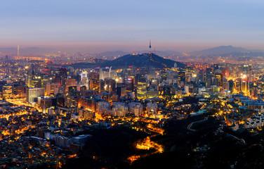 Seoul City Skyline , South Korea.