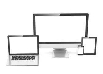 Ultimate web design, laptop, smartphone, tablet, computer, display