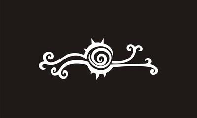 swirl ornate decoration vector