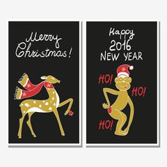 Monkey in Christmas hat
