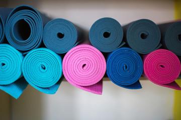 Colored yoga mats