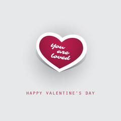"""""""You Are Loved"""" Valentine's Day Card - Design Illustration for Your Greeting Card"""