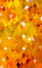 Concept Pixelated triangle abstract Computer Graphic Orange color
