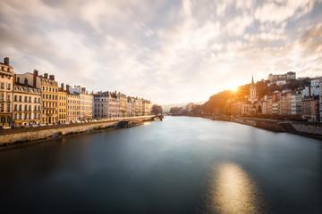 Ville de Lyon quais de saône