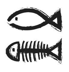 fish bone skeleton symbol