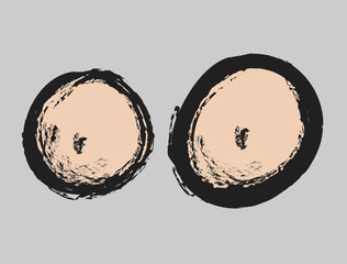 doodle comic female breast  icon