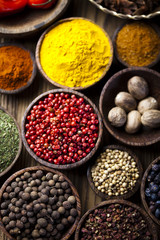 Photo sur Aluminium Herbe, epice Spices and herbs, orintal cuisine vivid theme