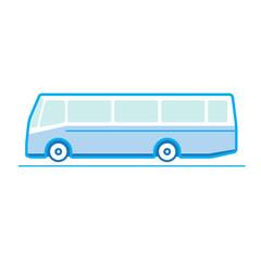 Bus, transportation vehicles, Flat style vector illustration