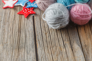 Hobby needlework background concept