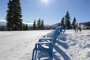 Travel: Lake Tahoe - blue chairs