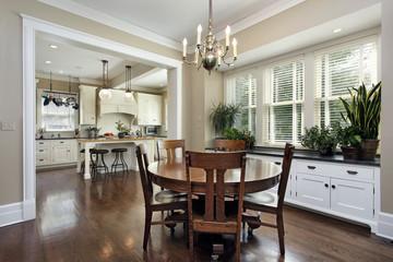 Breakfast room in luxury home