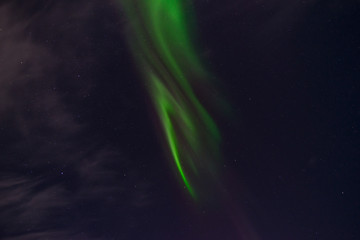 The wonders of the night sky in the polar areas of earth light up with various colors
