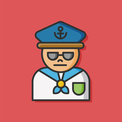 sea sailor vector icon