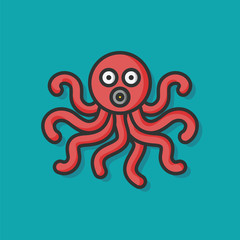sea animal octopus icon