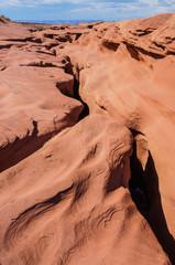 Top of Antelope Canyon (slot canyon) at ground level, Arizona, United States of America