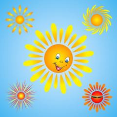 Sun burst star logo icon. Sunshine sun logo.