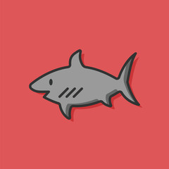 sea animal shark icon