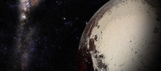 The Pluto shot from space showing all they beauty. Extremely detailed image
