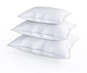 three white pillows