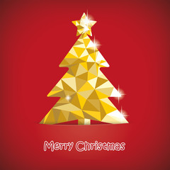 Christmas Tree Red Background