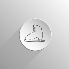 ice skating black icon