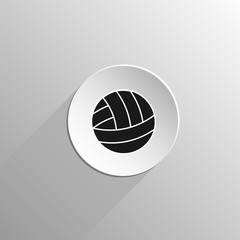 volleyball ball black icon