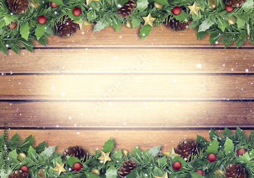 christmas and happy new year 2016 wood texture background