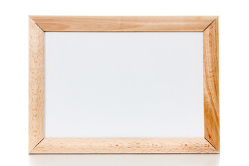 Classic wooden frame with canvas isolated on white