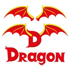 The wings of a dragon and the dragon sign.