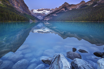 Lake Louise, Banff National Park, Canada at dawn