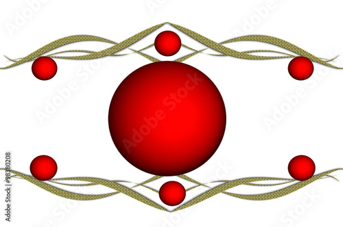Fondo blanco bolas rojas esferas dorado navidad - Bolas de navidad rojas ...
