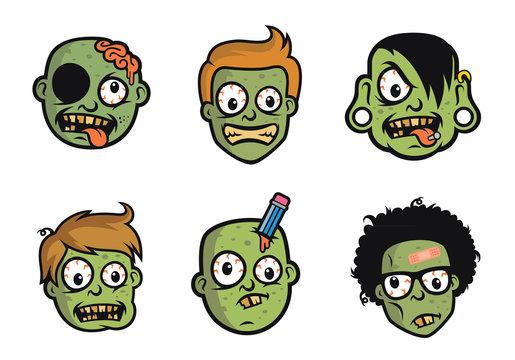 Funny Zombie Head