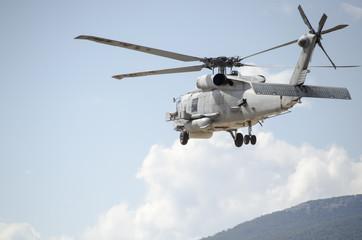Black hawk helicopter take off
