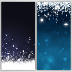 Abstract Snow Banners