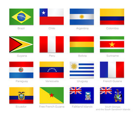 South America Flags Collection