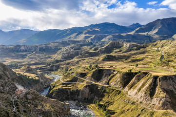 Panoramic view in the Colca Canyon, Peru
