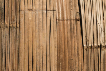 Wall Mural - Closeup of the old and weathered bamboo