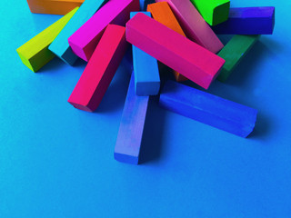 Pastel sticks with copy space