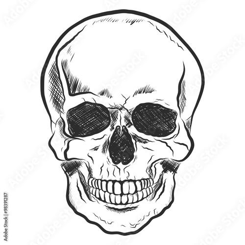 totenkopf skull handgezeichnet stockfotos und. Black Bedroom Furniture Sets. Home Design Ideas