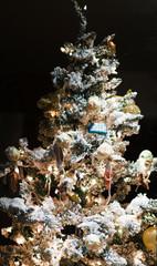 toys on christmas tree