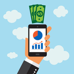 Móvil Smartphone, app estadisticas