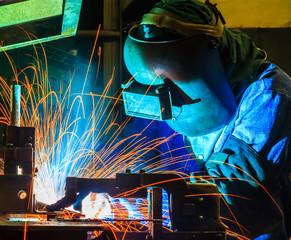 welder Industrial automotive part in factory