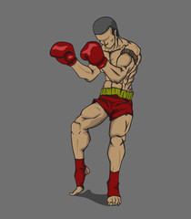 Thai Boxing. Martial art