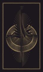 Tarot cards - back design, Birth of Phoenix