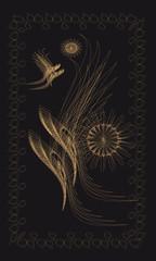 Tarot cards - back design, Purgatory
