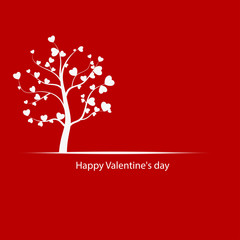 tree love. Valentine's Day