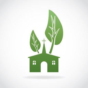 Growing Christian Church Theme Illustration