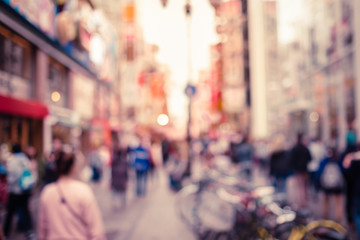 Blurred background - Dotonbori street in Osaka,Japan.