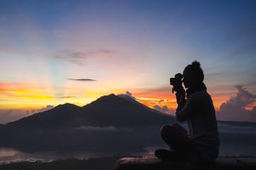 woman photographer - Stock image
