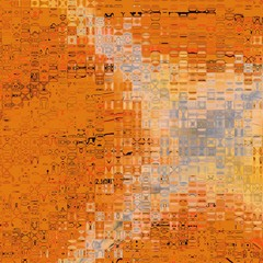 Orange glass tiles
